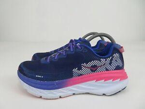 Hoka One One Bondi 5 Athletic Running Walking Shoes Pink Blue Womens Size 9.5 M