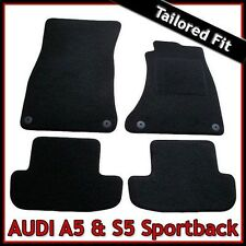Audi A5 Sportback Mk1 2007-2016 Tailored Fitted Carpet Car Mats BLACK