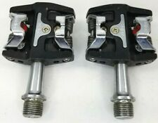 Wellgo Clipless Pedals Black 9/16 Road Mountain Cross Cyclocross Racing WPD-M8