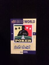 ERIC SEIDEL 2011 UPPER DECK Autographed Signed AUTO Baseball Card POKER AW-ES