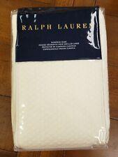 Nwt Ralph Lauren Pierson Cream Euro Pillow Sham $215