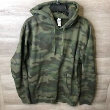Independent Trading Company Mens Medium Forest Camo Midweight Hooded Pullover