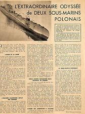 POLAND SOUS-MARINS POLONAIS SUBMARINES ORZEL WILK ADP 1940 ?