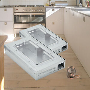 2 PCS Rat Mouse Trap Catcher Humane Live Animal Pest Multi Live Catch Mice Bait