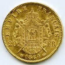 20 francs or Napoléon 3 tête laurié 1864
