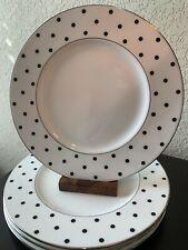 Kate Spade Larabee Road Black Dot Plates - Set of 4