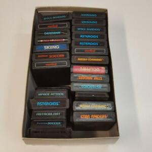 Video game lot of 25 atari 2600 Games Untested sold as is (T52)