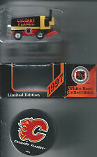 Calgary Flames  2-Lot  Souvenir 1:50 Scale die-cast Zamboni & Logo Hockey Puck