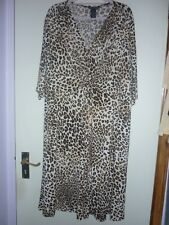 NEW NINA LEONARD ANIMAL PRINT 3/4 SLEEVE DRESS SIZE 3XL QVC NEW