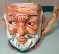 Vintage Ceramic Toby Mug Royal Dalton Gray Haired Bearded, Bald Man 4.5""