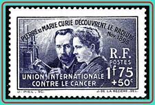 FRANCE 1938 CURIE ISSUE SC#B76 MNH ** CV$21.00 CHEMISTRY, ATOM, NOBEL