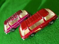 2× Matchbox Lesney Superfast No 22 PURPLE RED Freeman Inter-city Commuter 1970