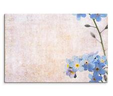 120x80cm Leinwandbild auf Keilrahmen Blaue Blüten Zweig