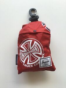 Herschel Supply Company Independent Truck Co Red Packable Duffle New 10-2