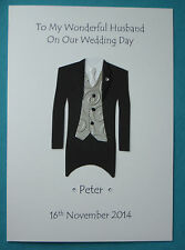 Personalised Card For Husband To Be On Wedding Day