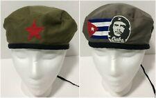 Ernesto Che Guevara Adult L Gray/Green Beret Red Star Cuba Flag Reversible