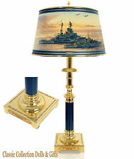 "BRADFORD EXCHANGE -""D-DAY 70TH ANNIVERSARY COMMEMORATIVE ART LAMP- NEW !"