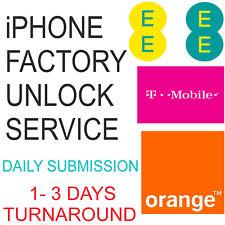 UNLOCK CODE SERVICE FOR IPHONE 5 5s 5c 6 6s 6 Plus 6s Plus UK EE ORANGE TMOBILE