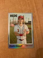 2019 Topps Heritage - Scooter Gennett - #466 Silver Metal Foil Parallel /70 made
