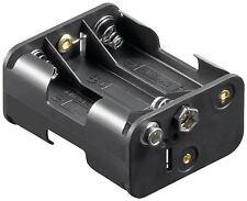 Goobay 6x AA (Mignon) battery holder black Push on (11467)