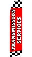 3 Transmission Service - Windless Swooper Flag Feather Banner Sign 2.5'x11.5' rz