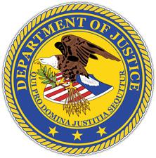 "US Department of Justice Seal USA Car Bumper Vinyl Sticker Decal 4.6"""