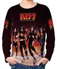 Kiss Boys Kids Long Sleeve T-Shirt Tee Size 3-12 ael20174