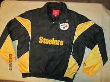 SHARP-NFL,STEELERS,PULLOVER JACKET, M, EMBROIDERED,SPRING,GOLD & BLACK PITTSBURG
