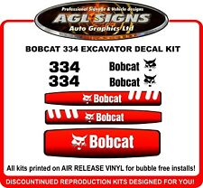 Bobcat 334 Mini Excavator Reproduction Decal Kit  331 335