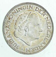SILVER - WORLD Coin - 1966 Netherlands 2 1/2 Gulden World Silver Coin 14.9g *589