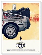 "Back To The Future 3 12""x8"" Classic Movie Silk Poster Cool Gift Wall Decoration"