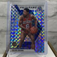 2019-20 Panini Mosaic Julius Erving #288 Silver Mosaic Prizm Hall Of Fame SP