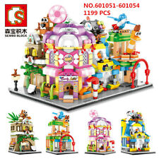 Sembo 1199 Pcs Mini Kids Building Blocks Toys DIY Puzzle Street Store Gift