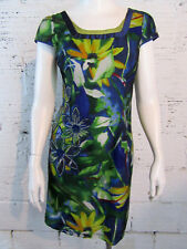 Japanese Women's Large Floral Embroidered Design Pencil Dress W/Fine Lace Net