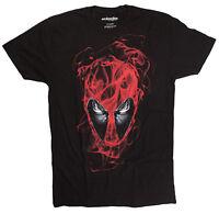 Marvel Deadpool Frontal Smokey Head Black T-Shirt