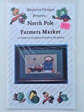 Mayberry Designs North Pole Farmers Market Chart Jane Johnson Cross Stitch New