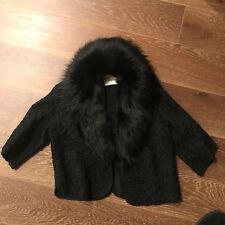 Vintage Shepard Rhode Island Black Fur Detachable Collar Coat Jacket Size Medium