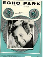 """KEITH BARBOUR """"ECHO PARK"""" SHEET MUSIC-PIANO/VOCAL/GUITAR-1969-RARE-NEW ON SALE!!"""