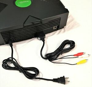 New AV Cable & Power Cord Bundle for the Original Microsoft Xbox