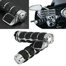 "7/8"" 22MM Universal Motorcycle Rubber Handlebar Hand Grips Throttle Sport Bike"