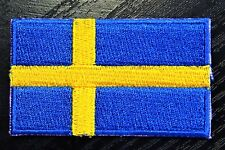 SWEDEN Swedish Country Flag Embroidered PATCH Badge *NEW*