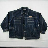 Pelle Pelle Marc Buchanan Denim Jacket Adult 2XL XXL Men Blue Heavy Pockets