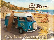 VW Wohnmobil Bereit für die Sommer T2 BAY SURFEN STRAND große 3D Metall