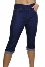 Indigo, Dark wash Regular Capri, Cropped Jeans for Women
