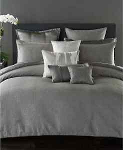 Donna Karan Collection SURFACE Full/Queen Duvet Cover Charcoal Gray