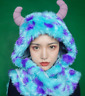 Disney Parks Monsters Inc. Sulley Sully Hat with Gloves Plush