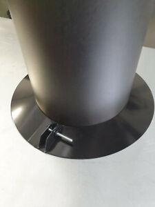 "Debris Collar Finish Plate For Woodburning Stove Single 5"" Pipe 125mm black"
