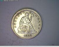 1858 Seated Liberty Quarter 25c (# 75s81 )