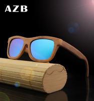 Handmade Bamboo Wooden Sunglasses Polarized Lens Vintage Wooden Frame Glasses