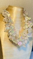 VTG Rare Runway Necklace Cube Lucite Iconic Large Beaded Massive Statement